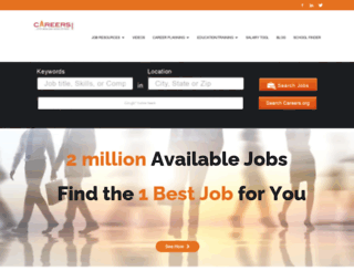 jobs.careers.org screenshot