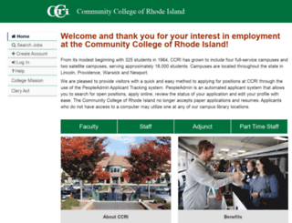 jobs.ccri.edu screenshot