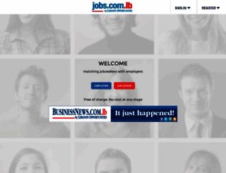 jobs.com.lb screenshot