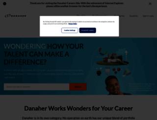 jobs.danaher.com screenshot
