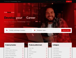 jobs.datanews.knack.be screenshot