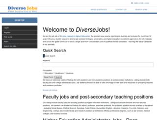 jobs.diversejobs.net screenshot