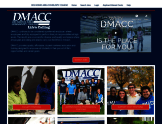 jobs.dmacc.edu screenshot