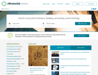 jobs.efinancialcareers.ie screenshot