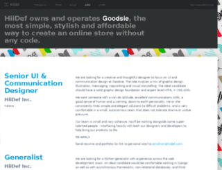 jobs.hiidef.com screenshot