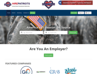 jobs.hirepatriots.com screenshot