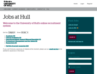 jobs.hull.ac.uk screenshot