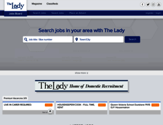 jobs.lady.co.uk screenshot