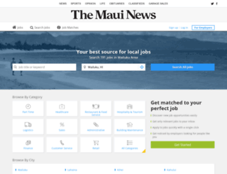 jobs.mauinews.com screenshot
