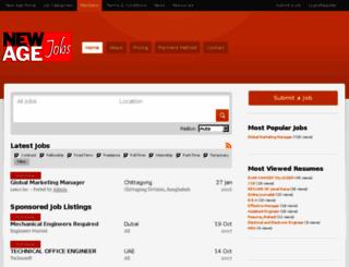 jobs.newagebd.net screenshot