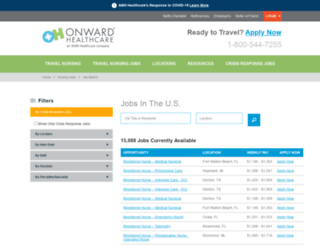 jobs.onwardhealthcare.com screenshot