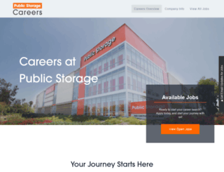 jobs.publicstorage.com screenshot