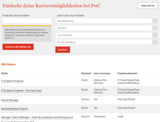 jobs.pwc.ch screenshot