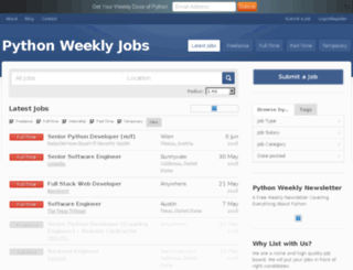 jobs.pythonweekly.com screenshot
