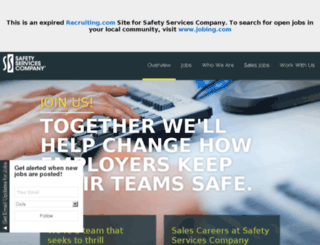 jobs.safetyservicescompany.com screenshot