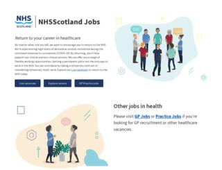 jobs.scot.nhs.uk screenshot