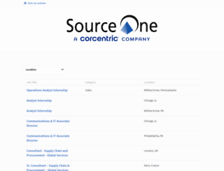 jobs.sourceoneinc.com screenshot