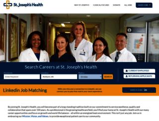 jobs.stjosephshealth.org screenshot