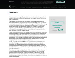jobs.uel.ac.uk screenshot