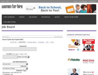 jobs.womenforhire.com screenshot