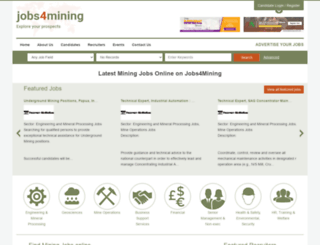 jobs4mining.com screenshot