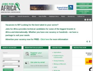 jobsforafrica.za.com screenshot