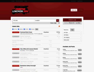 jobsforlinemen.com screenshot