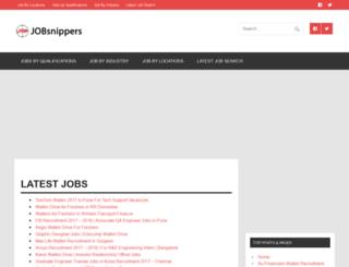 jobsnippers.com screenshot