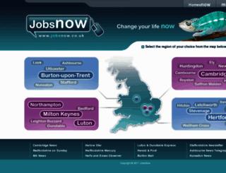 jobsnow.co.uk screenshot