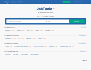 jobtonic.in screenshot