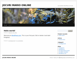 jocurimarioonline.wordpress.com screenshot