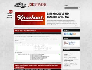 joe-stevens.com screenshot