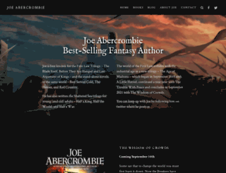 joeabercrombie.com screenshot