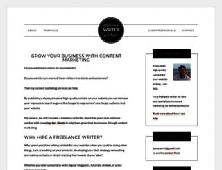 joecanwrite.com screenshot