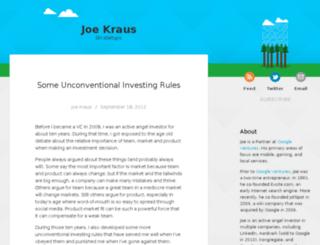 joekraus.com screenshot