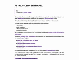 joelsaupe.com screenshot