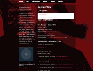 joemcphee.com screenshot