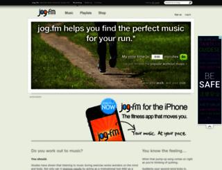 jog.fm screenshot
