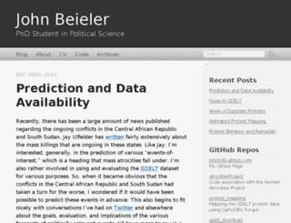 johnbeieler.org screenshot