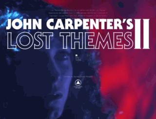 johncarpenter.sacredbonesrecords.com screenshot
