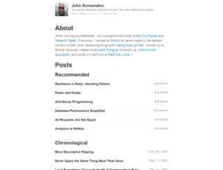 johnnunemaker.com screenshot