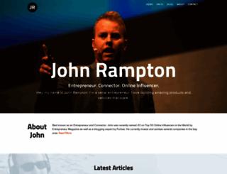 johnrampton.com screenshot