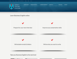 johns-online-english.com screenshot