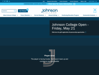 johnson.edu screenshot