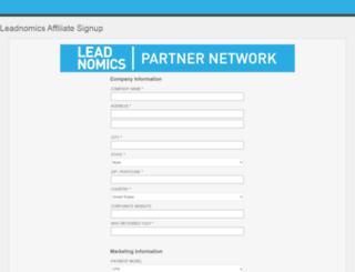 join.leadnomics.com screenshot