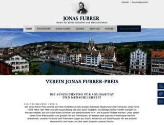 jonasfurrer.ch screenshot