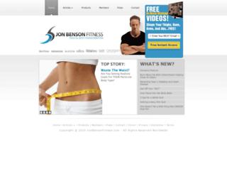 jonbensonfitness.com screenshot