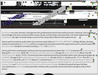 jonsatrom.com screenshot