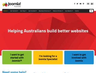 joomla.org.au screenshot