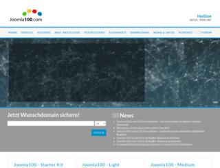 joomla100.com screenshot